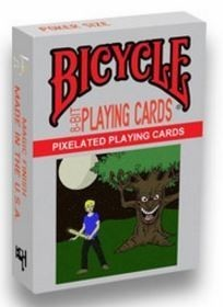8-Bit Playing Cards Black Deck