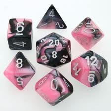 CHX 26430 Gemini Black-pink w/white 7-Die Set