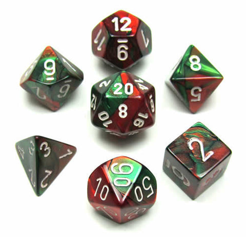 CHX 26431 Gemini Green-red w/white 7-Die Set