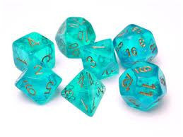 CHX 27486 Borealis Teal/gold 7-Die Set
