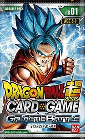 Dragon Ball Super Card Game Booster Pack (Release date 28 July 2017)