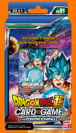 Dragon Ball Super Card Game The Awakening Starter Deck (Release date 28 July 2017)