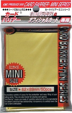 KMC SLEEVE GOLD (50 SLEEVES/PACK) - MINI SIZE