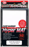 KMC SLEEVE HYPER MAT WHITE (80 SLEEVES/PACK) - STANDARD SIZE