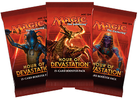 Magic the Gathering Hour of Devastation Booster Pack (Release date 14/07/2017)