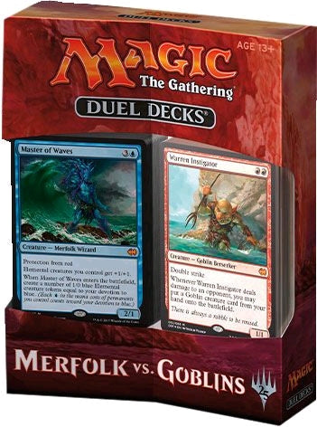 Magic the Gathering Merfolk vs Goblins Duel Decks (Release Date 10 November 2017)