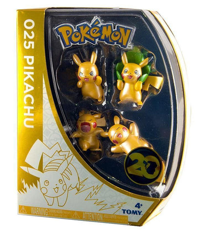 Pokemon 20th Anniversary Pikachu 4 Pack Assortment