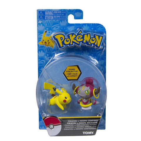 Pokemon Pikachu vs Hoopa Confined Set of 2 Action Figures