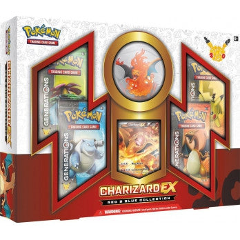 Pokemon TCG Red & Blue Collection Charizard EX Figure Box Set