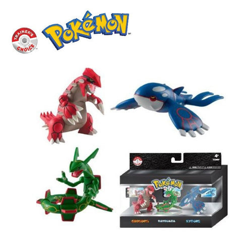 "Pokemon Trainer's Choice 4"" Figure 3 Pack-Groudon, Kyogre and Rayquaza"