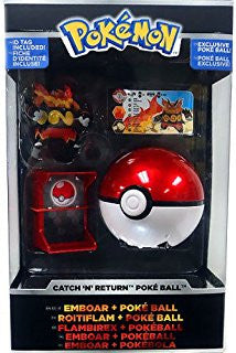 Pokemon Trainer's Choice Catch n Return Pokeball Emboar & Poke Ball Figure Set
