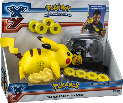 Pokemon XY Battle Ready Pikachu Lightning Tail Attack Disc Launcher