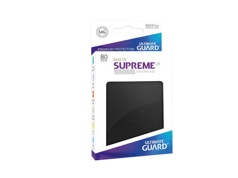 Ultimate Guard Supreme UX Sleeves Standard Size Matte Black (80)