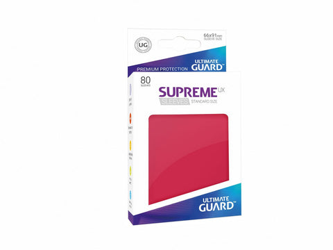 Ultimate Guard Supreme UX Sleeves Standard Size Solid Red (80)