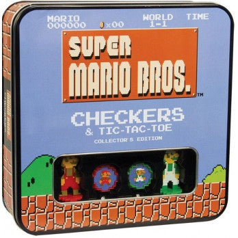 Super Mario Bros Checkers & Tic-Tac-Toe Collector's Edition