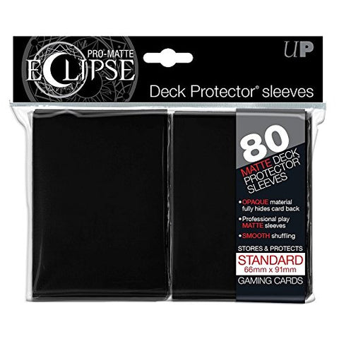 ULTRA PRO - DECK PROTECTOR STANDARD Sleeves - 80ct Pro-Matte (Non Glare) - Eclipse Black