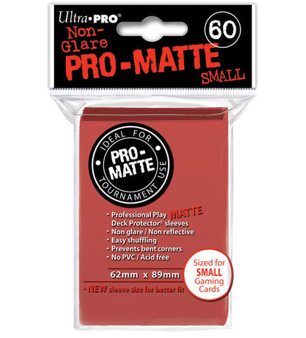 ULTRA PRO - SMALL PRO - Matte - Deck Protector® Sleeves Red