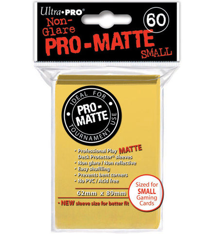 ULTRA PRO - SMALL PRO - Matte - Deck Protector® Sleeves Yellow