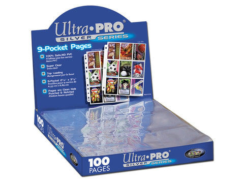 ULTRA PRO Page - 9-Pocket Silver Series