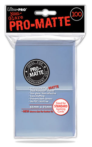 ULTRA PRO Standard Deck Protector 100ct PRO-MATTE Clear