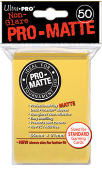 ULTRA PRO Standard PRO-Matte - Deck Protector® Sleeves Yellow 50ct
