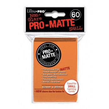 Ultra Pro Small Pro-Matte Deck Protector Orange 60ct