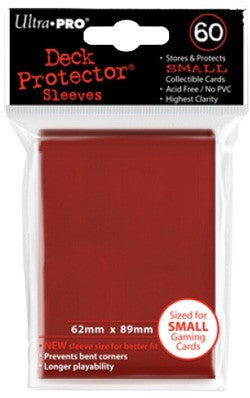 Ultra Pro Small Red Deck Protector Sleeves 60ct