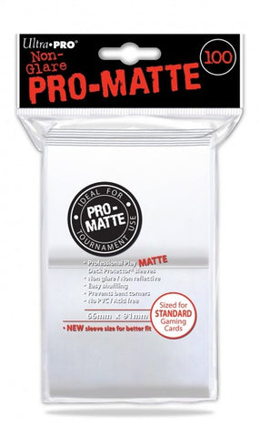 Ultra Pro White Deck Protector Pro Matte 100ct