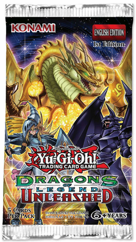 Yu-Gi-Oh TCG Dragons of Legend Unleashed Booster Pack