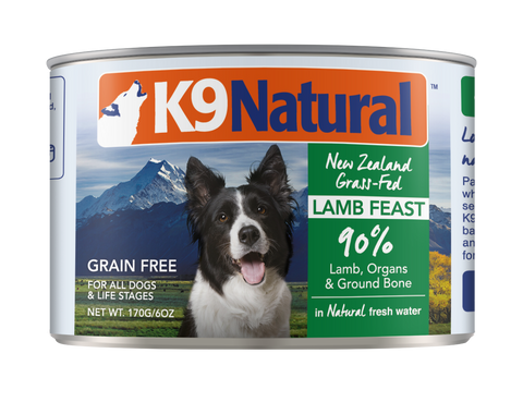 K9 Natural Canned Dog Food 170g (5 flavor options)