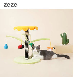 Zeze Garden Cat Scratcher Poll and toy