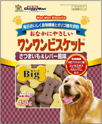*Buy 1 Get 1 Free!* DoggyMan Bowwow Biscuit Big Sweet Potato & Chicken Liver