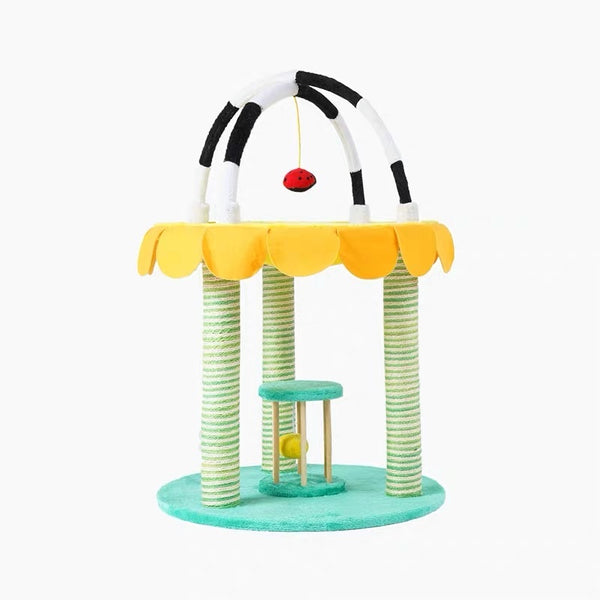 Zeze Garden Series Two Level Cat Scratcher Poll and Toy