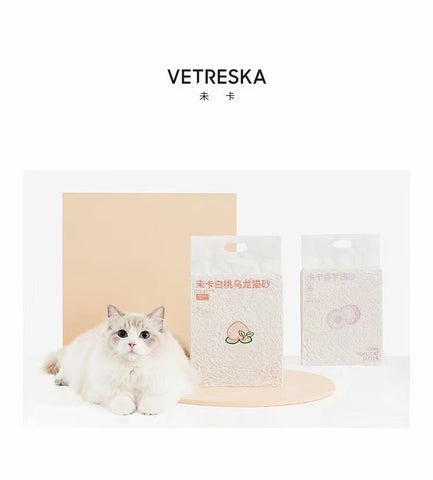 Vetreska Tofu Cat Litter, Milk Tea / Taro / Peach Oolong Scents (6L)