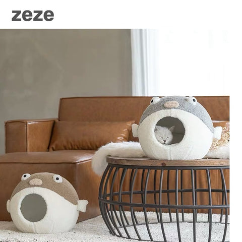 Zeze Pufferfish Pet Bed