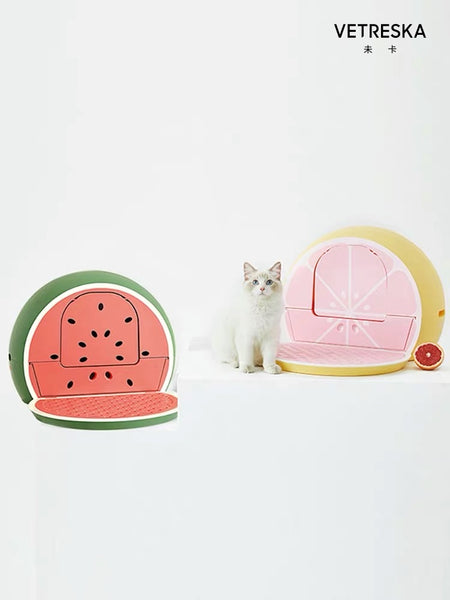 Vetreska Grapefruit / Watermelon Cat Litterbox