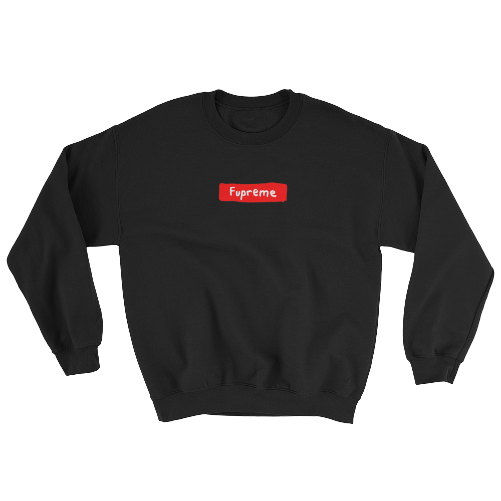 Fupreme Sweat Shirt in Black