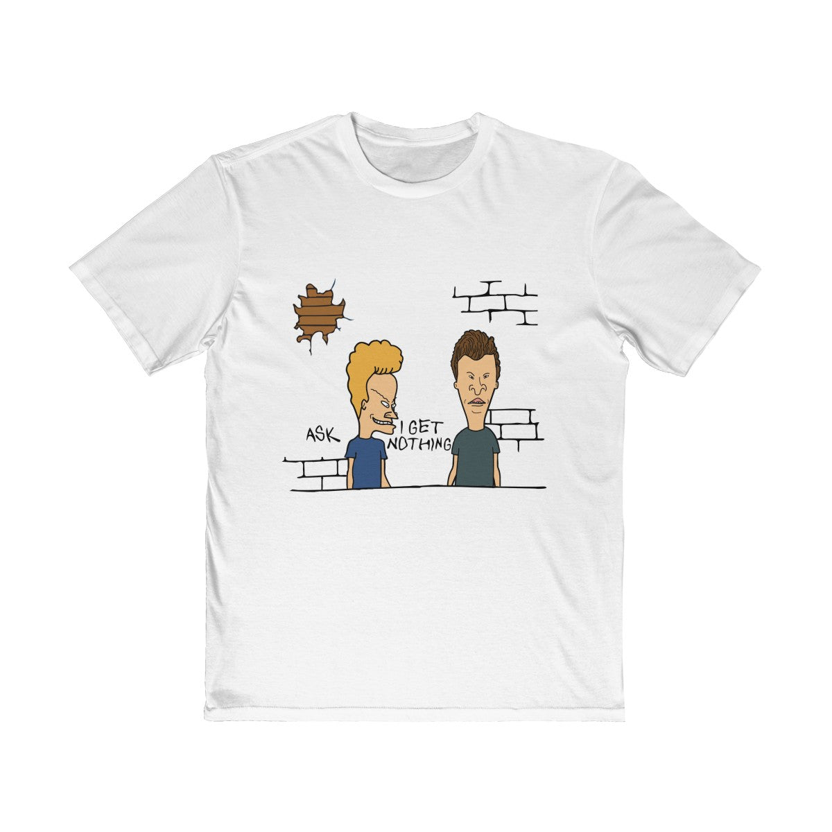 The Ask Beavis T-Shirt in White