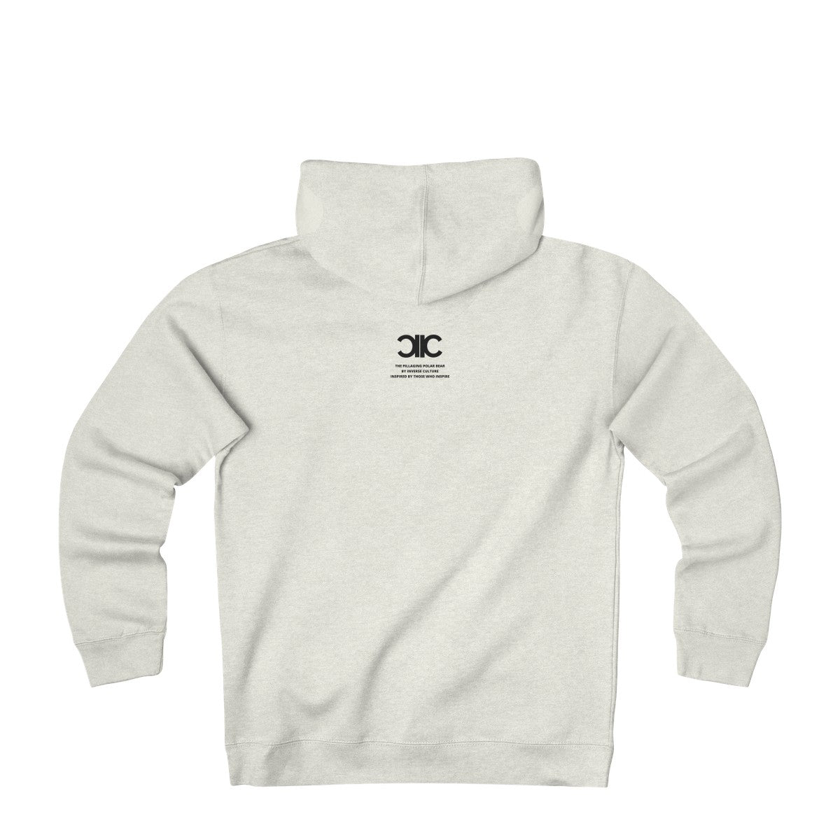 The Pillaging Polar Bear Heavyweight Fleece Hoodie in White