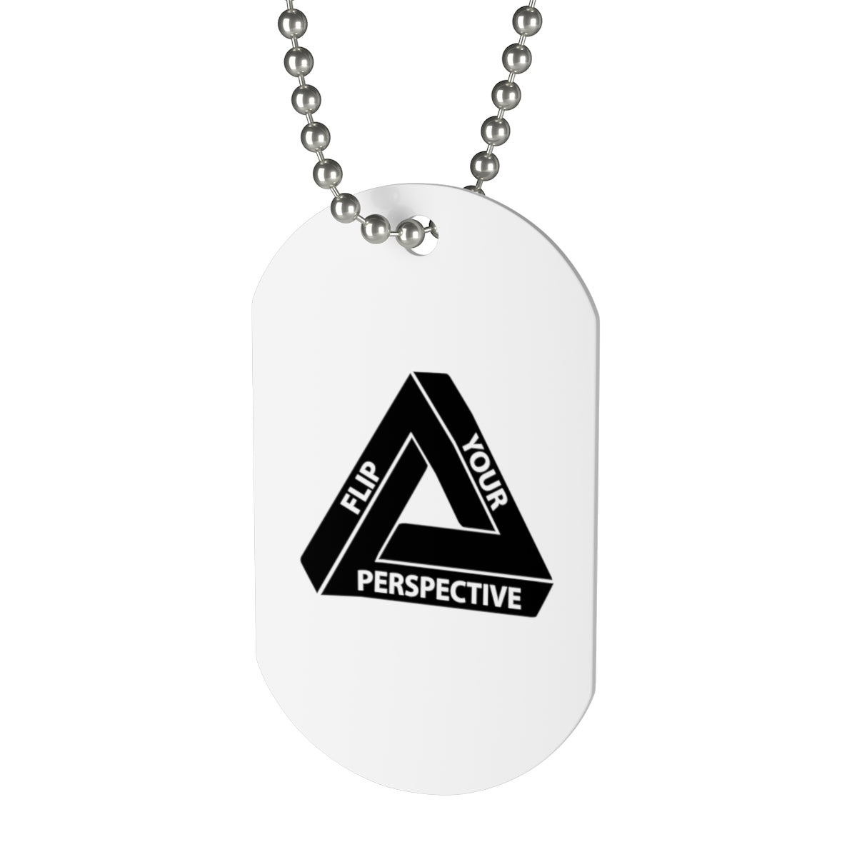 The Flip Your Perspective Dog Tag