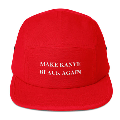 The Make Kanye Black Again Five Panel Cap in Red