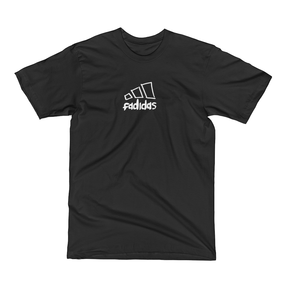 Fadidas-T-shirt in Black