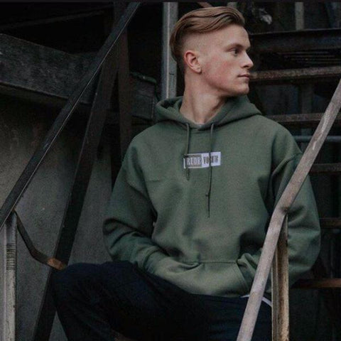 Military Green Warm-Up Hoodie