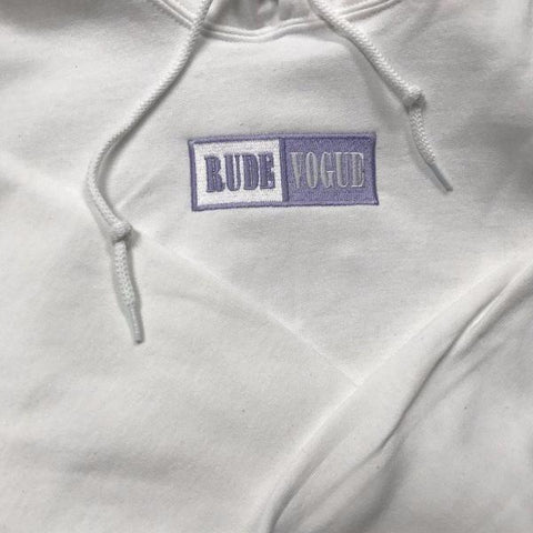 White Cool Lavender Warm-Up Hoodie