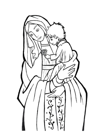 Blessed Mother Coloring Page