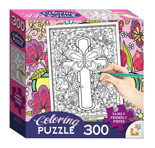 Butterfly Cross Coloring Puzzle