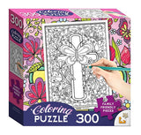 Butterfly Cross Coloring Puzzle - ABCatholic