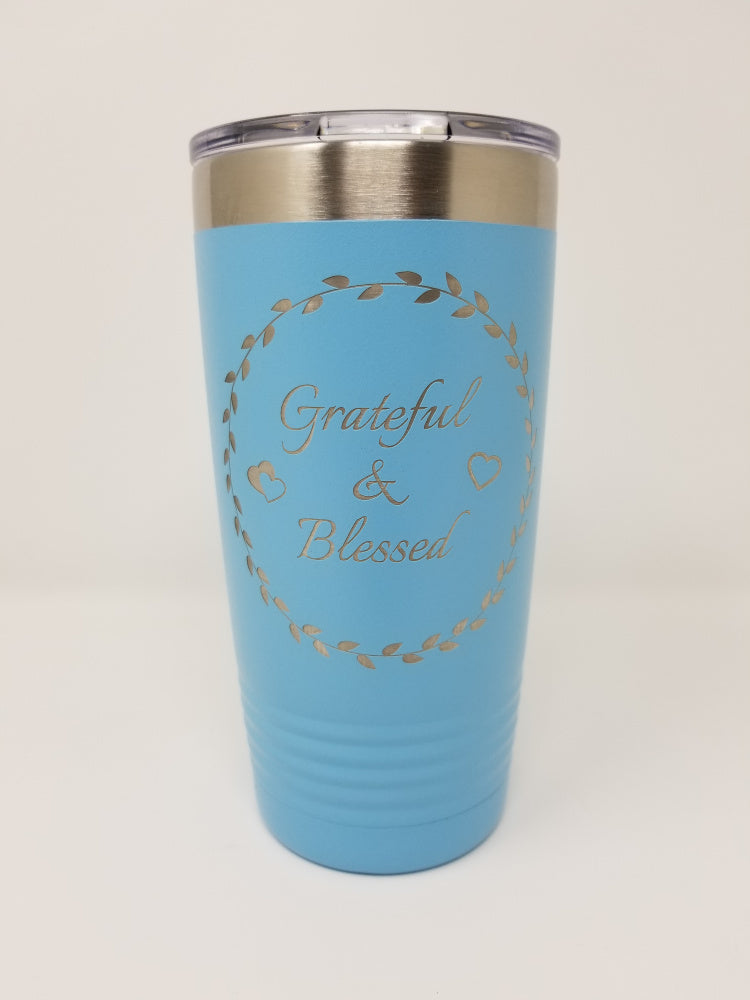 Grateful & Blessed Tumbler - ABCatholic