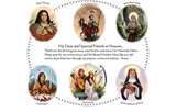 Prayer Pillowcase - Circle of Friends: Saintly Sisters - ABCatholic