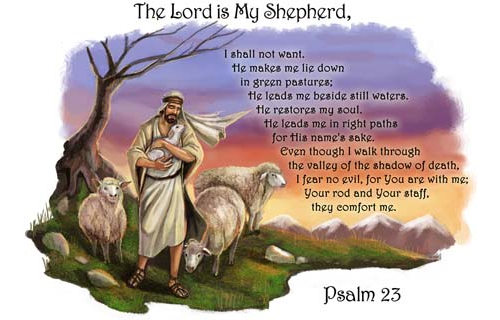 Prayer Pillowcase Good Shepherd 23rd Psalm Abcatholic